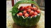 طرز تهیه سبد میوه هندوانه برای شب یلدا