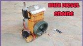 ساخت موتور دیزل مینی از مقوا