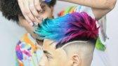 طراحی  رنگ مو مردانه