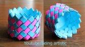 آموزش ساخت سبد کاغذی ساده و زیبا