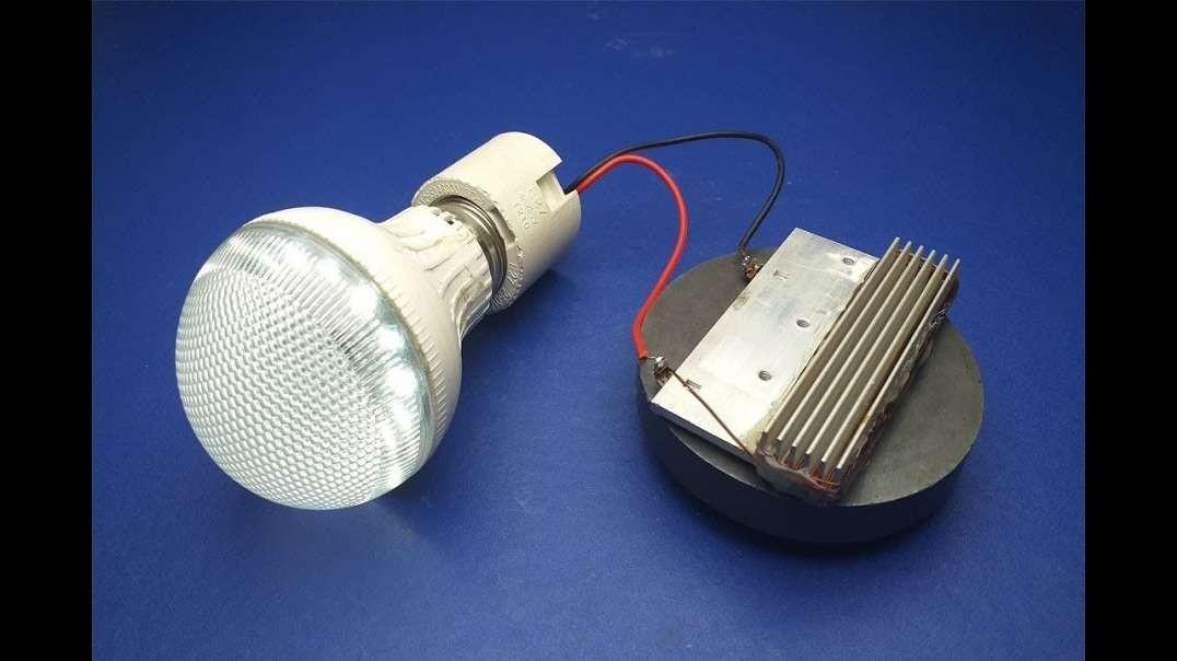 مولد انرژی رایگان برای لامپ با استفاده از آهن ربا | پروژه های علمی  2019