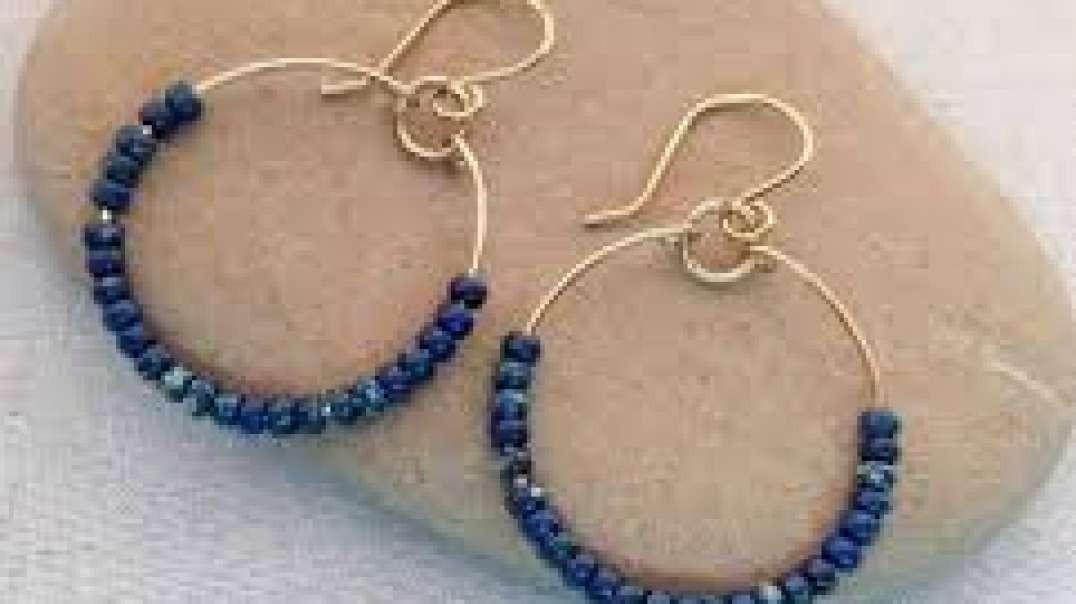 گوشواره های آویز کاغذی زیبا جواهرات دست ساز
