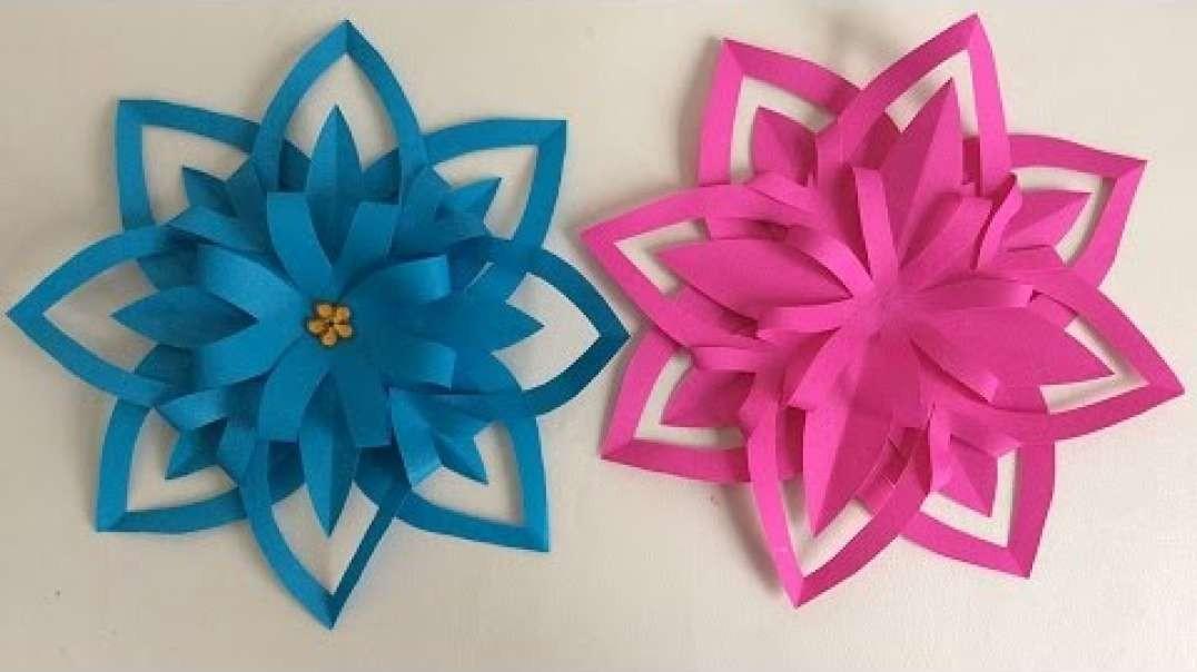 ایده  گلهای کاغذی تزیینی