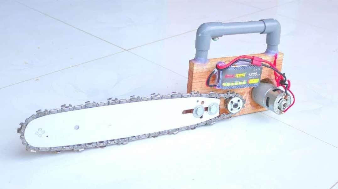 نحوه ساخت اره برقی با موتور 12 ولت در خانه