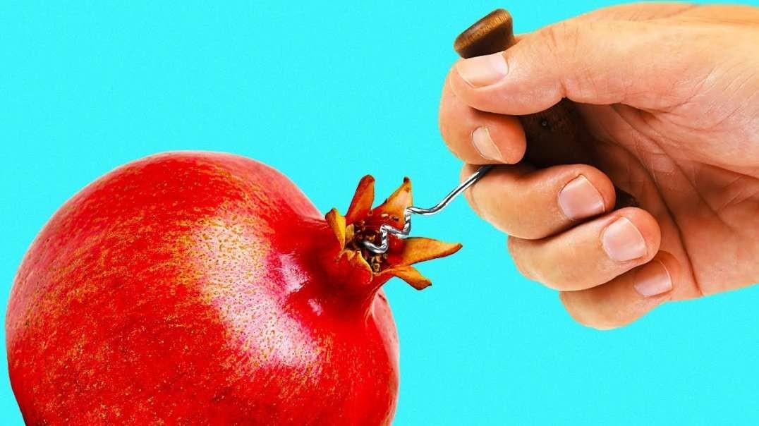۲۴ ترفند با میوه ها