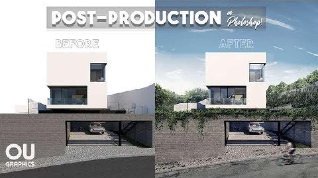 آموزش رایگان پست پروداکشن  با فتوشاپ برای رندر خارجی ویژه معماران