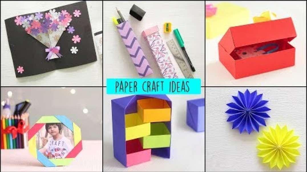 ایده ساخت کاردستی های زیبا با کاغذ