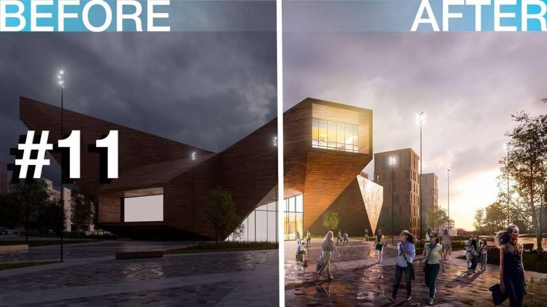 آموزش پست پروداکشن  با فتوشاپ ویژه معماران