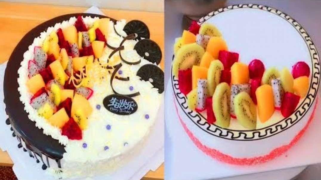 آموزش تزیین کیک های میوه ای