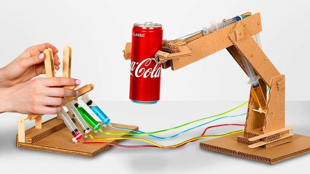 ساخت بازوی روباتیک هیدرولیک از مقوا
