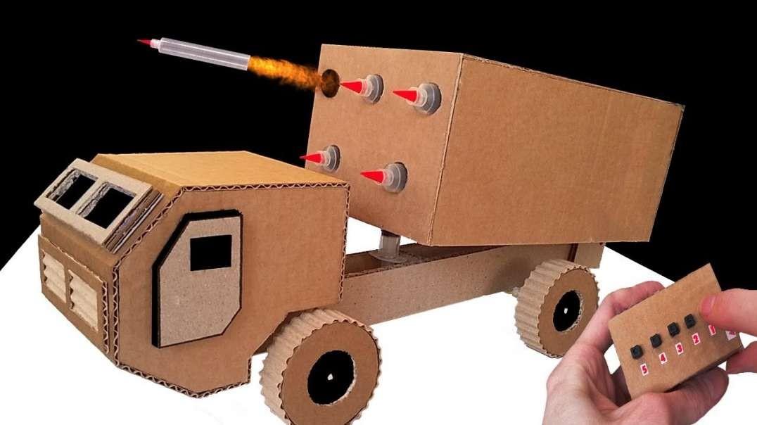 ساخت پرتاب موشک چندگانه از کارتن