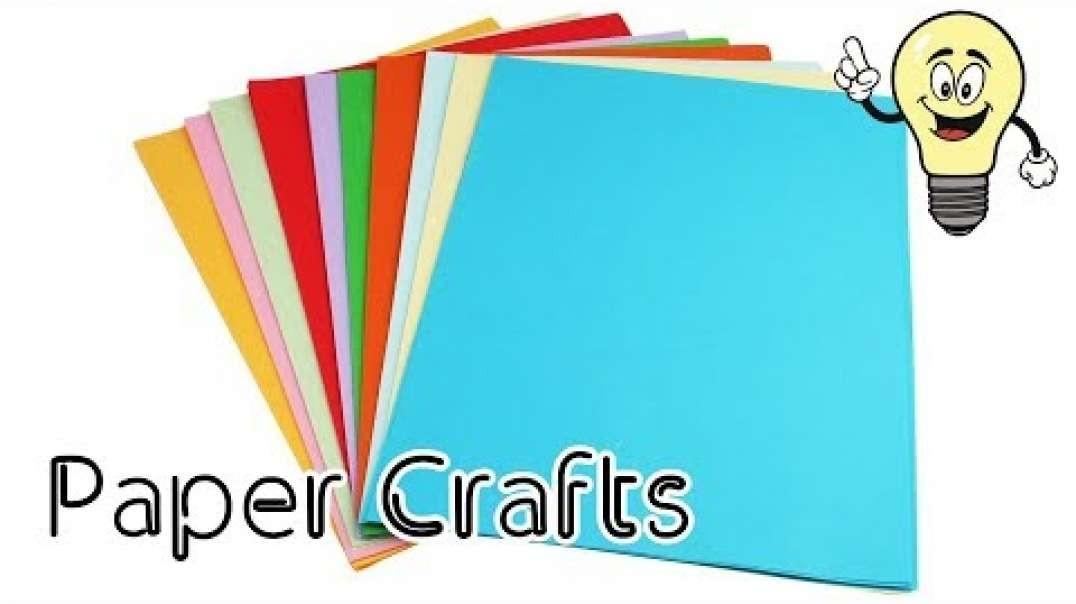 ایده جدید صنایع دستی کاغذ رنگی  | ایده های دکوراسیون منزل