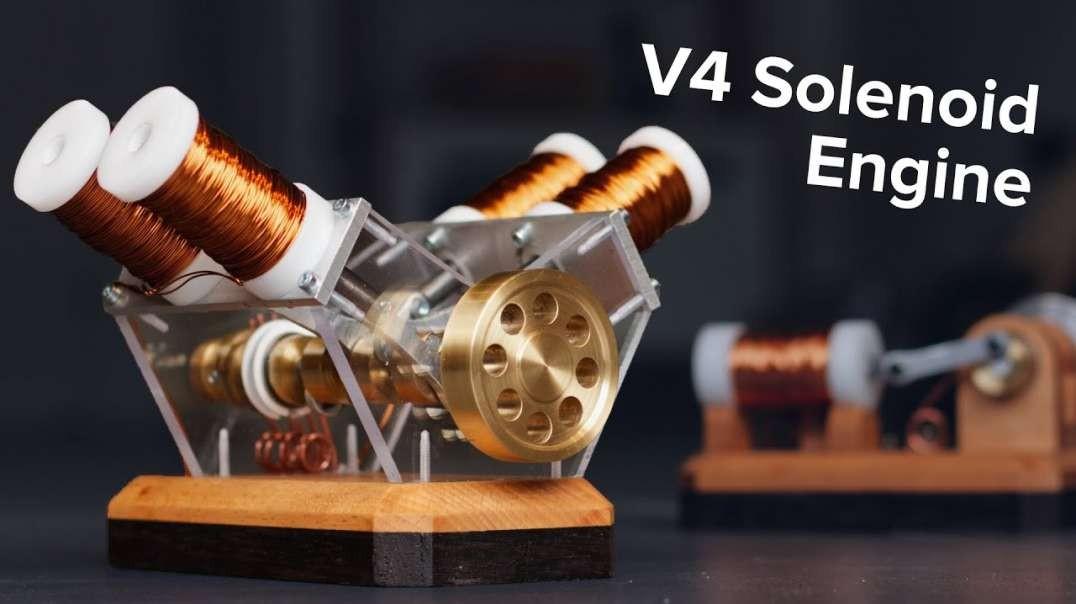 ساخت موتور برقی V4