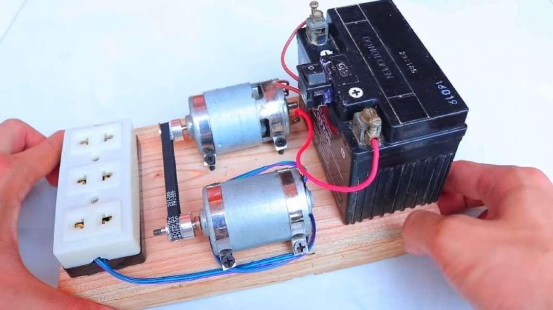 نحوه ساخت دینام ژنراتور 220 ولت در خانه