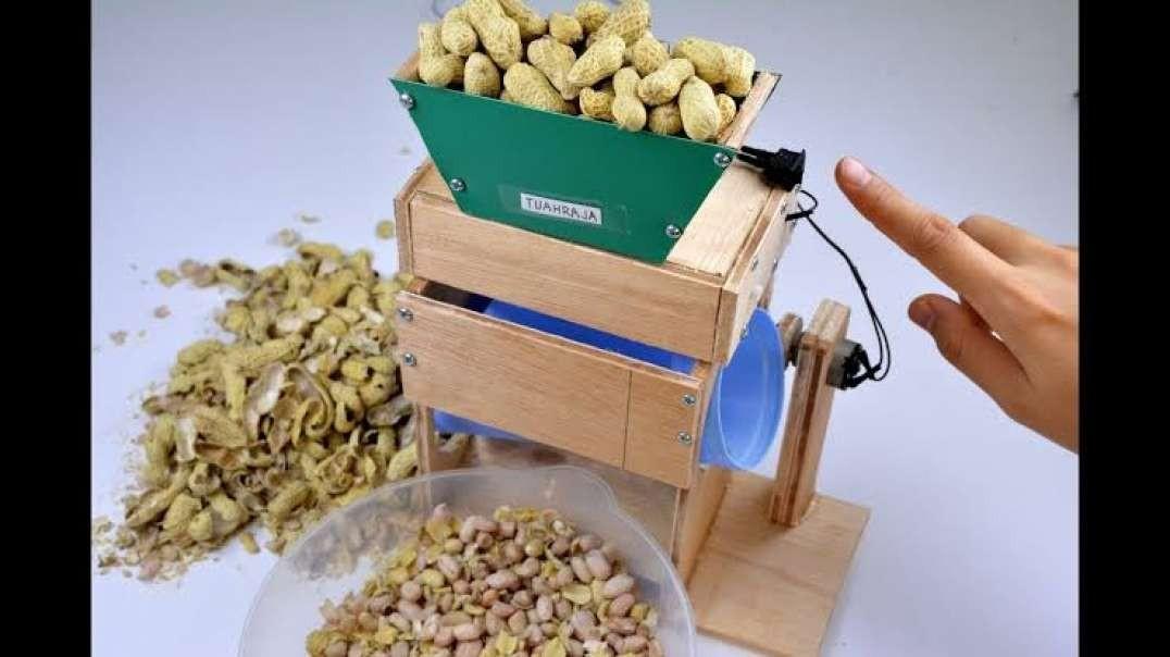 ساخت دستگاه پوست کن بادام زمینی