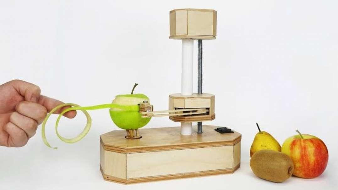 ساخت دستگاه میوه پوست کن