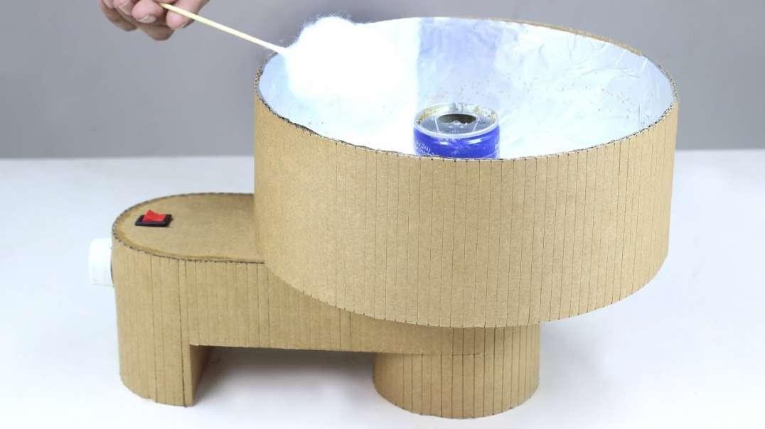 ساخت دستگاه پشمک سازی از مقوا