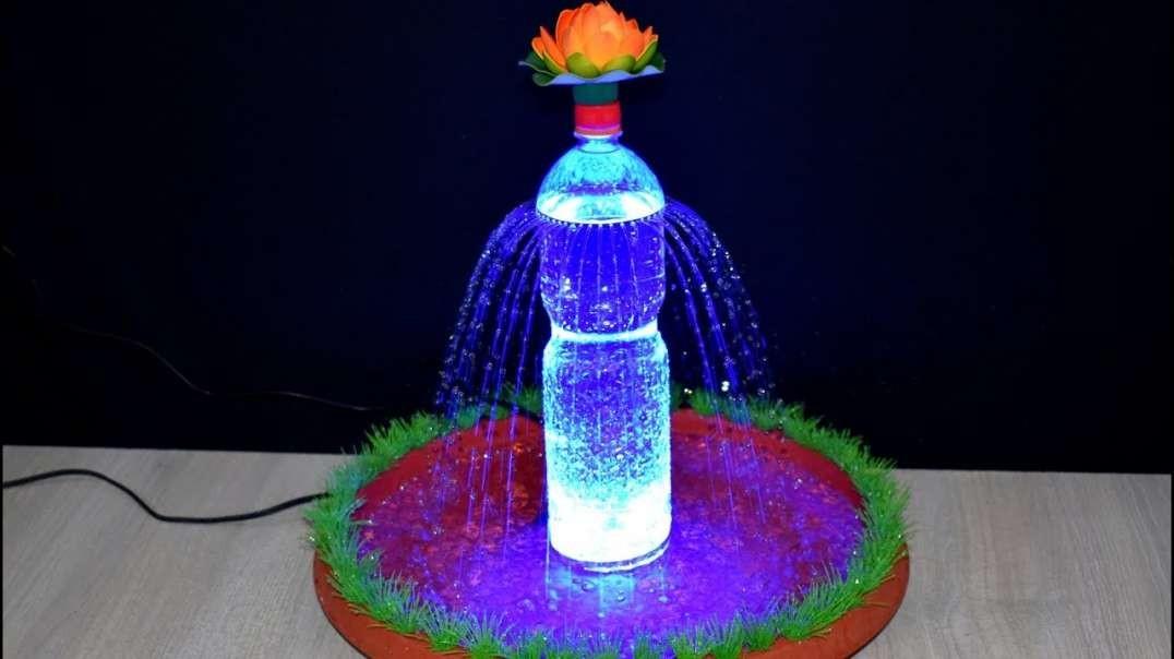 ساخت آبشار رنگی زیبا با بطری پلاستیکی و Led