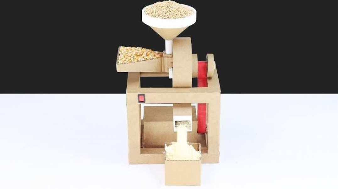 ساخت دستگاه آسیاب خانگی ذرت و گندم