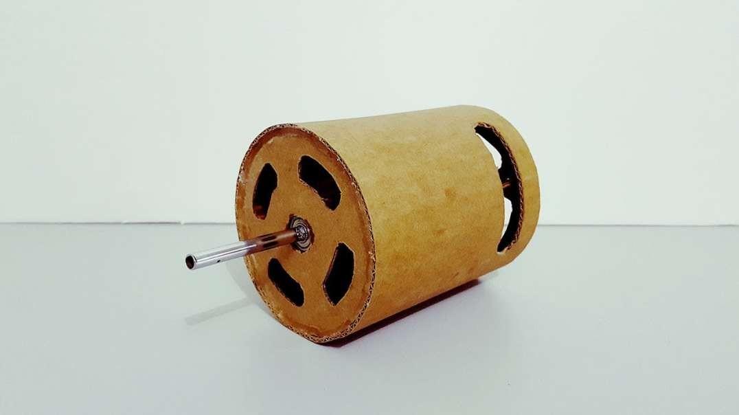 ساخت یک موتور برقی مقوایی