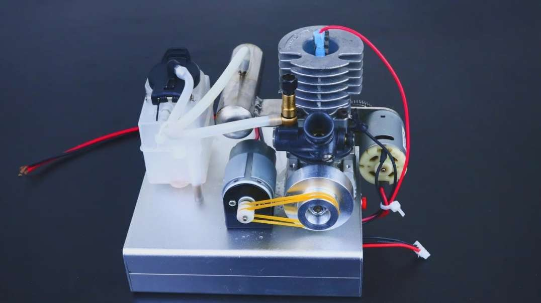 تست موتور نیترو - تولید برق