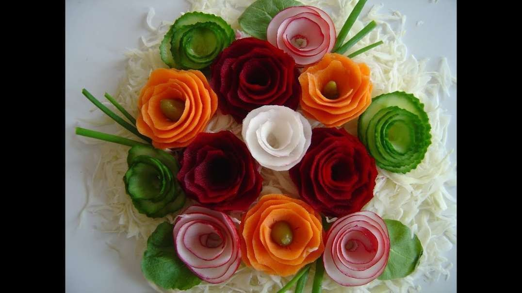 ساخت گل با سبزیجات
