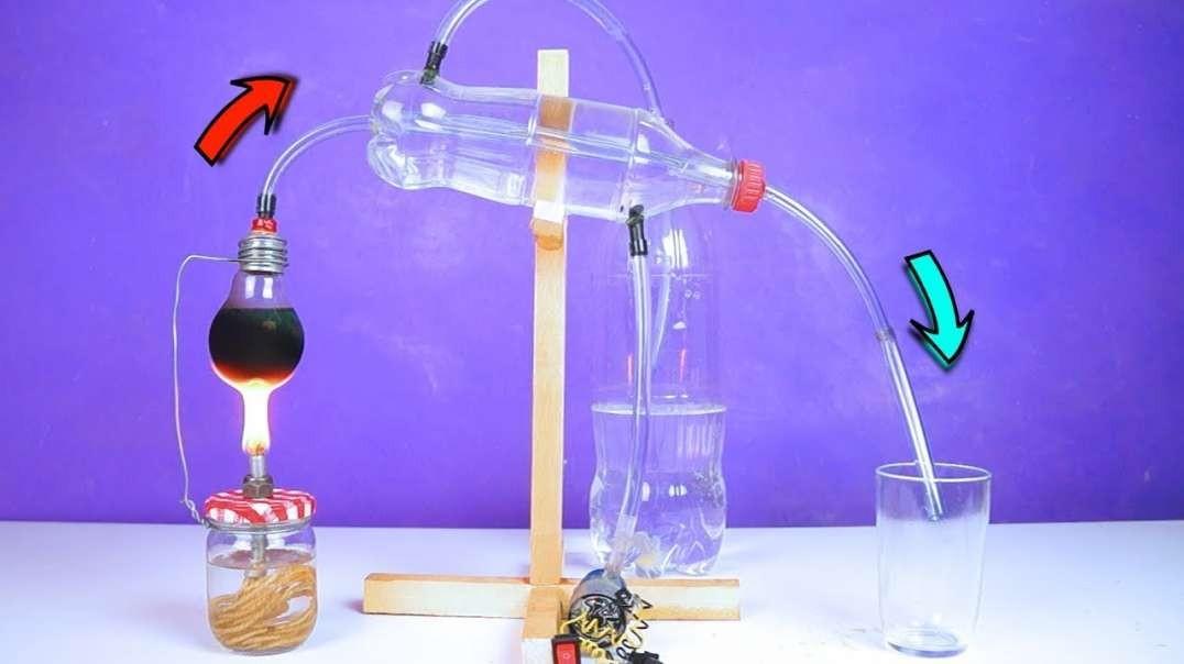 ساخت دستگاه تقطیر شگفت انگیز برای آزمایشگاه علوم