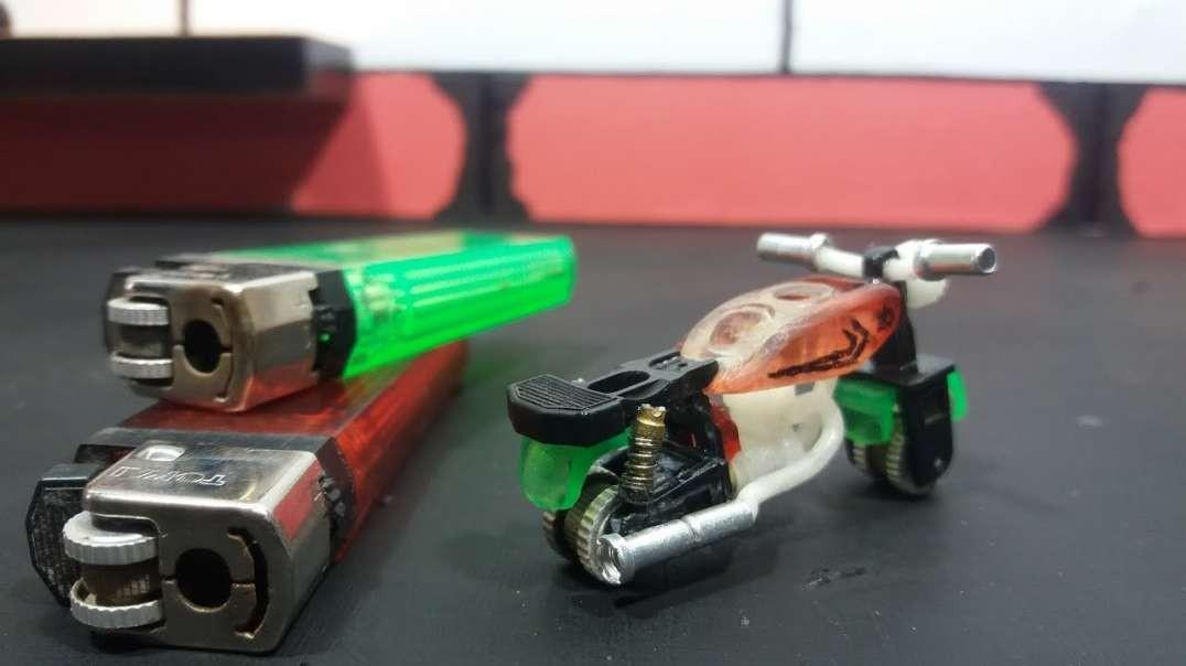 ساخت موتور مینیاتوری با  فندک