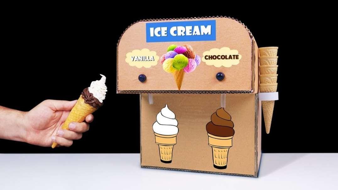 اختراع بستنی ساز دابل در خانه