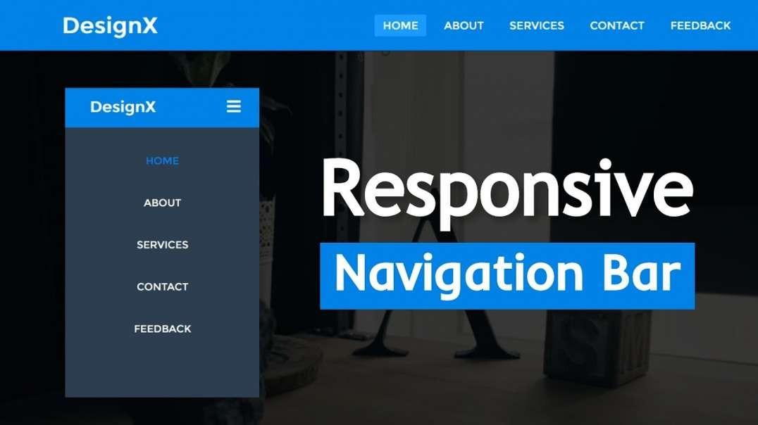 آموزش نوار منو پیمایشی ریسپانسیو با استفاده از HTML و CSS