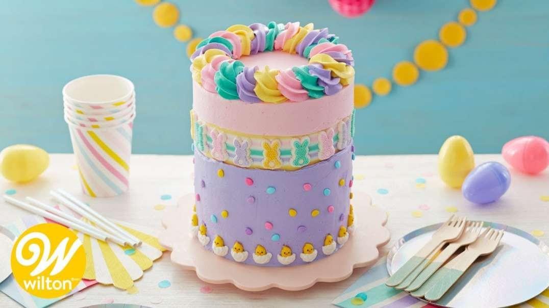 تزیین ساده و فوق العاده زیبای کیک تولد