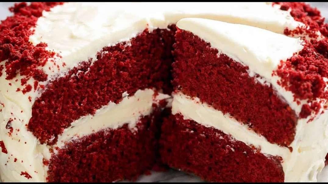 کیک مخملی قرمز