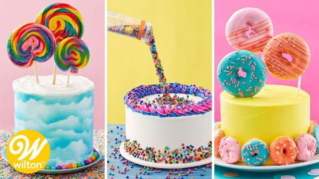 آموزش 3 نوع تزیین کیک ساده و زیبا