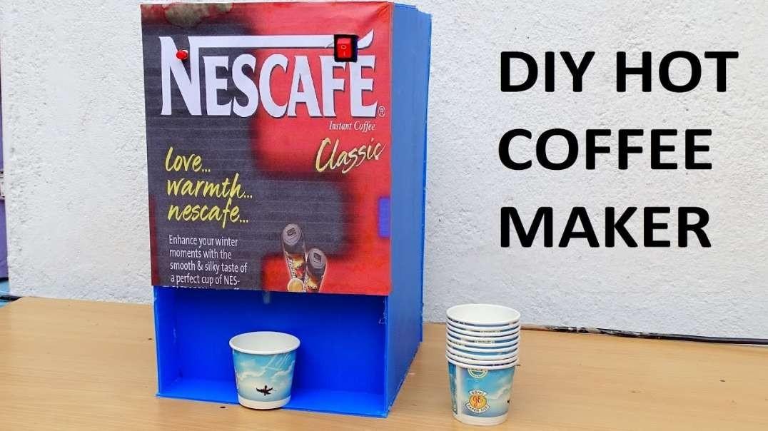 آموزش ساخت ماشین قهوه ساز ارزان و ساده در خانه
